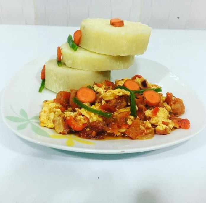 Yam and Egg breakfast