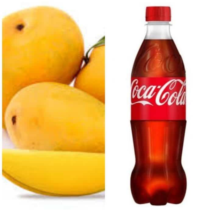 Eating Mango With Coke