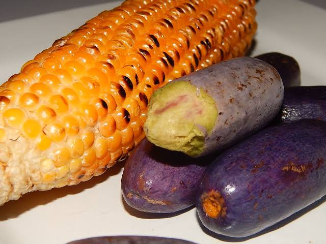 Roasted corn and Pear ube Healthy Nigerian desserts